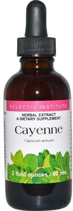 Cayenne, 2 fl oz (60 ml) by Eclectic Institute, 香草,辣椒(辣椒) HK 香港