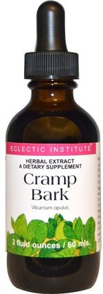 Cramp Bark, 2 fl oz (60 ml) by Eclectic Institute, 草藥,抽筋樹皮 HK 香港