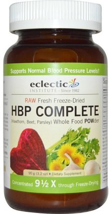 HBP Complete, Whole Food Powder, 3.2 oz (90 g) by Eclectic Institute, 健康,血壓 HK 香港