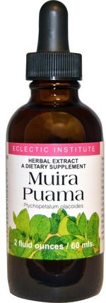 Eclectic Institute, Muira Puama, 2 fl oz (60 ml) 健康,男人,muira puama marapuama