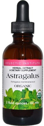 Organic Astragalus, 2 fl oz (60 ml) by Eclectic Institute, 健康,感冒和病毒,黃芪液,補品,adaptogen HK 香港