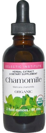 Organic Chamomile, 2 fl oz (60 ml) by Eclectic Institute, 草藥,洋甘菊 HK 香港