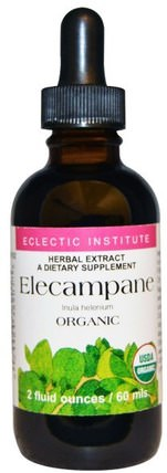 Eclectic Institute, Organic Elecampane, 2 fl oz (60 ml) 草藥,土木香