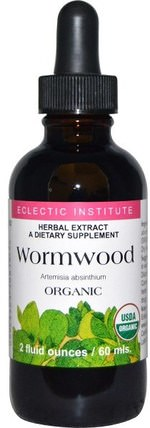 Organic Wormwood, 2 fl oz (60 ml) by Eclectic Institute, 草藥,艾蒿 HK 香港