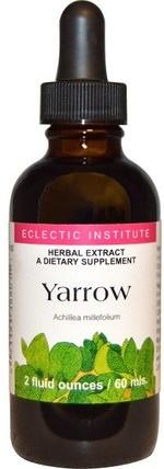 Yarrow, 2 fl oz (60 ml) by Eclectic Institute, 草藥,蓍草花(achillea millefolium wilhelmsii) HK 香港