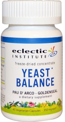 Yeast Balance, Pau D Arco - Goldenseal, 350 mg, 45 Veggie Caps by Eclectic Institute, 健康,念珠菌 HK 香港