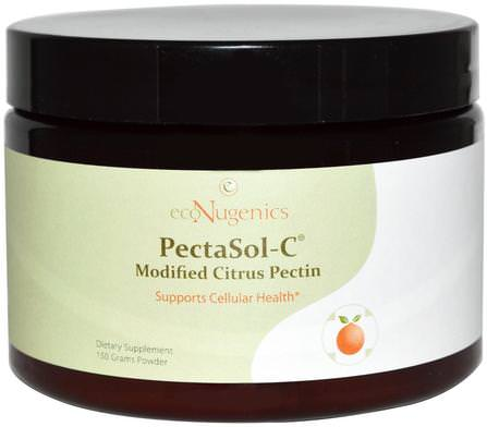 PectaSol-C Modified Citrus Pectin, Powder, 150 g by Econugenics, 補充劑,纖維,經濟學免疫健康,柑橘果膠改良 HK 香港