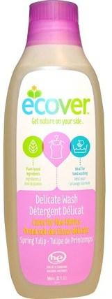 Delicate Wash, Spring Tulip, 32 fl oz (946 ml) by Ecover, 家裡,洗衣粉 HK 香港