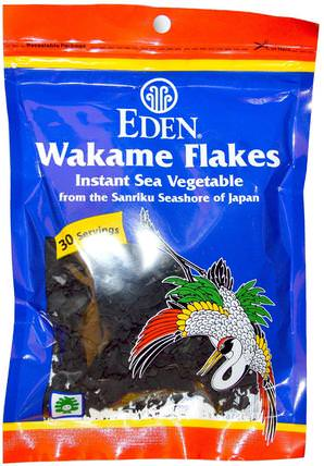 Wakame Flakes, 1.06 oz (30 g) by Eden Foods, 補充劑,藻類各種各樣 HK 香港