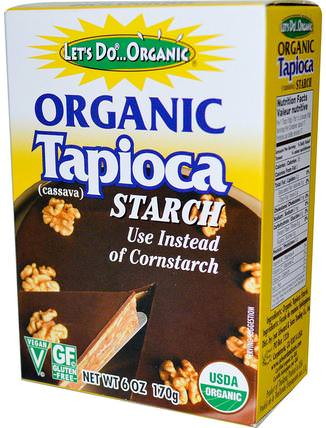 Organic Tapioca Starch, 6 oz (170 g) by Edward & Sons, 食品,烘焙助劑,麵粉和混合物,木薯粉 HK 香港