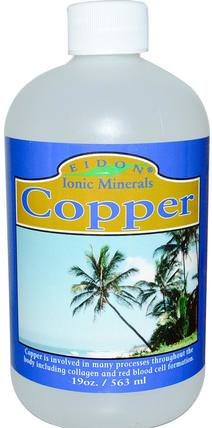 Ionic Minerals, Copper, 19 oz (563 ml) by Eidon Mineral Supplements, 補品,礦物質,銅,液體礦物質 HK 香港