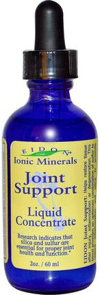 Ionic Minerals, Joint Support, Liquid Concentrate, 2 oz (60 ml) by Eidon Mineral Supplements, 補品,礦物質,骨骼,骨質疏鬆症,關節健康 HK 香港