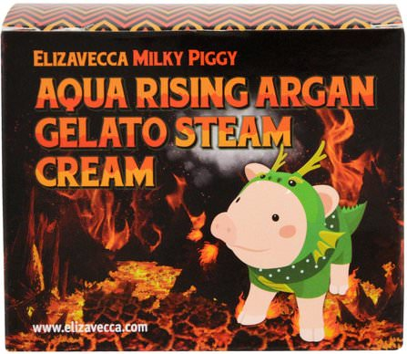 Aqua Rising Argan Gelato Steam Cream, 100 g by Elizavecca, 美容,面部護理,面霜,乳液 HK 香港