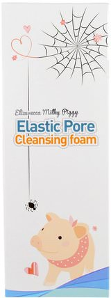 Elastic Pore Cleansing Foam, 120 ml by Elizavecca, 美容,面部護理,洗面奶 HK 香港