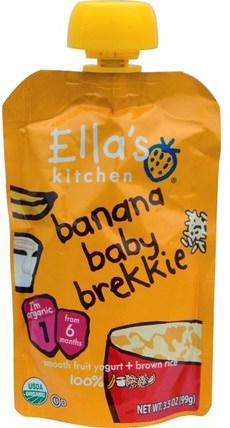 Ellas Kitchen, Banana Baby Brekkie, 3.5 oz (99 g) 兒童健康,兒童食品,嬰兒餵養,食物