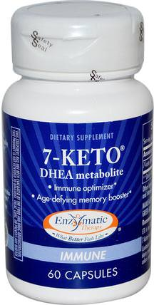 7-KETO, DHEA Metabolite, 60 Capsules by Enzymatic Therapy, 補充劑,7-酮 HK 香港