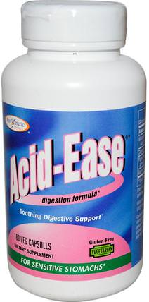 Acid Ease, Digestion Formula, 180 Veggie Caps by Enzymatic Therapy, 補充劑,酶 HK 香港