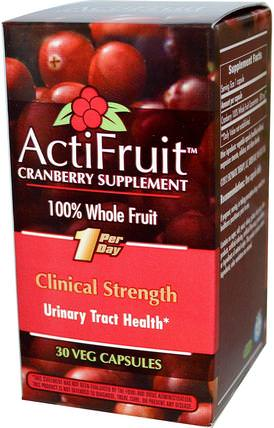 ActiFruit Cranberry Supplement, 30 Veggie Caps by Enzymatic Therapy, 補品,草藥,蔓越莓 HK 香港