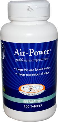 Air-Power, Respiratory, 100 Tablets by Enzymatic Therapy, 健康,肺和支氣管 HK 香港