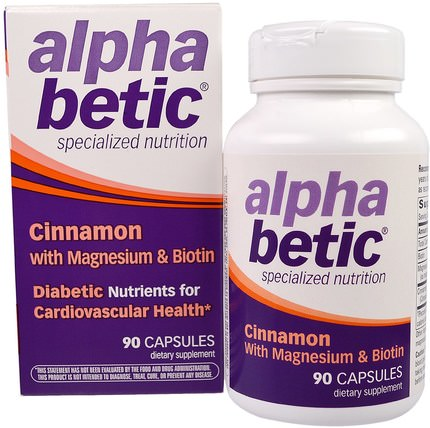 Alpha Betic, Cinnamon with Magnesium & Biotin, 90 Capsules by Enzymatic Therapy, 草藥,肉桂提取物,補品 HK 香港
