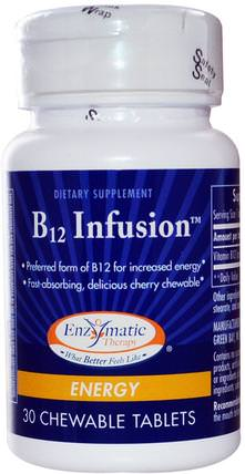 B12 Infusion, Energy, 30 Chewable Tablets by Enzymatic Therapy, 維生素,維生素b HK 香港
