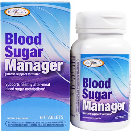 Blood Sugar Manager, 60 Tablets by Enzymatic Therapy, 健康,血糖,補品 HK 香港