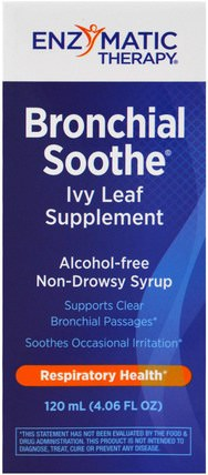 Bronchial Soothe, Ivy Leaf Supplement, 4.06 fl oz (120 ml) by Enzymatic Therapy, 健康,肺和支氣管 HK 香港