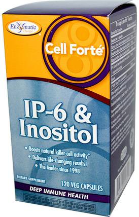 Cell Forte, IP-6 & Inositol, 120 Veggie Caps by Enzymatic Therapy, 補充劑,抗氧化劑,ip 6 HK 香港