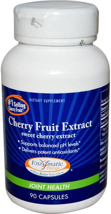 Cherry Fruit Extract, Sweet Cherry Extract, Joint Health, 90 Capsules by Enzymatic Therapy, 補品,水果提取物,櫻桃(水果黑野),健康 HK 香港