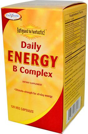 Fatigue to Fantastic!, Daily Energy B Complex, 120 Veggie Caps by Enzymatic Therapy, 維生素,維生素b複合物,腎上腺 HK 香港