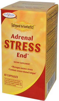 Fatigued to Fantastic!, Adrenal Stress End, 60 Capsules by Enzymatic Therapy, 補充劑,腎上腺 HK 香港
