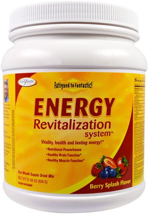 Fatigued to Fantastic!, Energy Revitalization System, Berry Splash Flavor, 21.48 oz (609 g) by Enzymatic Therapy, 補充劑,腎上腺 HK 香港
