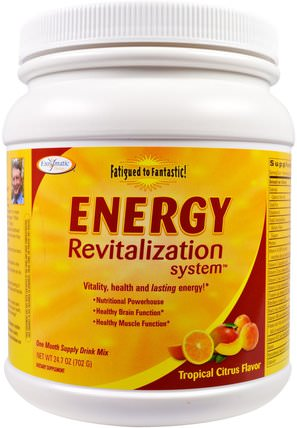 Fatigued to Fantastic!, Energy Revitalization System, Tropical Citrus Flavor, 24.7 oz (702 g) by Enzymatic Therapy, 補充劑,腎上腺 HK 香港