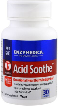 Acid Soothe, 30 Capsules by Enzymedica, 健康,消化,胃 HK 香港