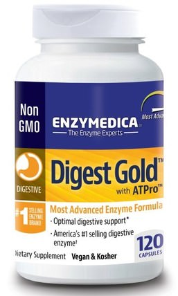 Digest Gold with ATPro, 120 Capsules by Enzymedica, 補充劑,消化酶 HK 香港