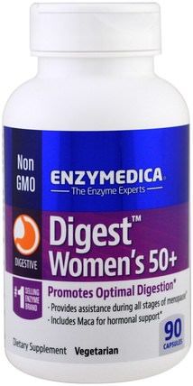 Digest, Womens 50+, 90 Capsules by Enzymedica, 補充劑,益生菌 HK 香港