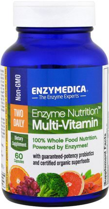 Enzyme Nutrition Multi-Vitamin, 60 Capsules by Enzymedica, 維生素,多種維生素 HK 香港