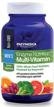 Enzyme Nutrition Multi-Vitamin, Mens, 120 Capsules by Enzymedica, 維生素,男性多種維生素 HK 香港