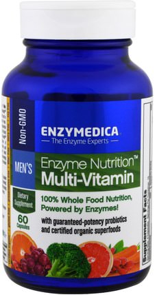 Enzyme Nutrition Multi-Vitamin, Mens, 60 Capsules by Enzymedica, 維生素,男性多種維生素 HK 香港