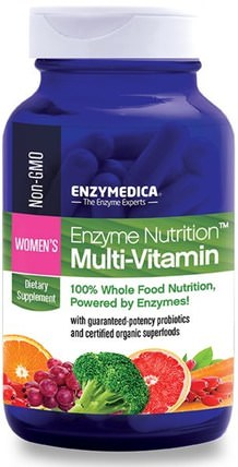 Enzyme Nutrition Multi-Vitamin, Womens, 120 Capsules by Enzymedica, 維生素,女性多種維生素 HK 香港