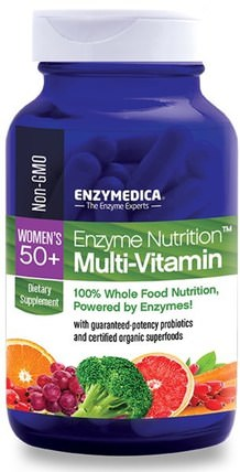 Enzyme Nutrition Multi-Vitamin, Womens 50+, 120 Capsules by Enzymedica, 維生素,女性多種維生素 HK 香港