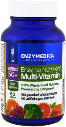 Enzyme Nutrition, Multi-Vitamin, Womens 50+, 60 Capsules by Enzymedica, 維生素,女性多種維生素 HK 香港