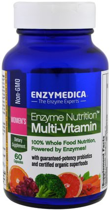 Enzyme Nutrition Multi-Vitamin, Womens, 60 Capsules by Enzymedica, 維生素,女性多種維生素 HK 香港