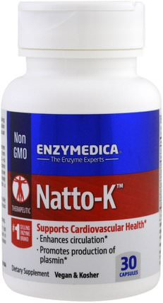 Natto-K, 30 Capsules by Enzymedica, 補充劑,納豆激酶 HK 香港
