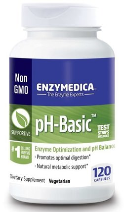 pH-Basic, 120 Capsules by Enzymedica, 健康,ph平衡鹼性 HK 香港