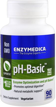 pH-Basic, 90 Capsules by Enzymedica, 家庭健康 HK 香港