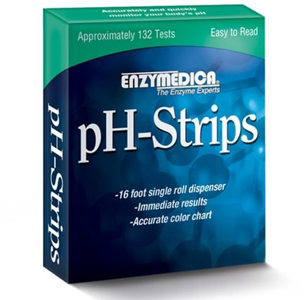 pH-Strips, 16 Foot Single Roll Dispenser by Enzymedica, 健康,ph平衡鹼性 HK 香港