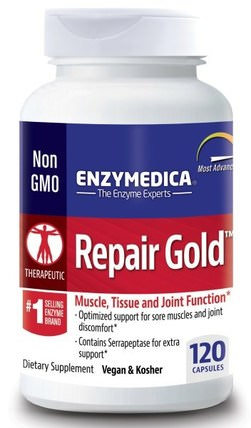 Repair Gold, 120 Capsules by Enzymedica, 健康,炎症,酶,沙雷胃蛋白酶 HK 香港