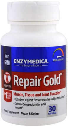 Repair Gold, 30 Capsules by Enzymedica, 補品,健康,炎症 HK 香港