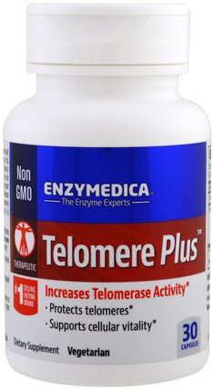 Telomere Plus, 30 Capsules by Enzymedica, 補充劑,抗氧化劑 HK 香港
